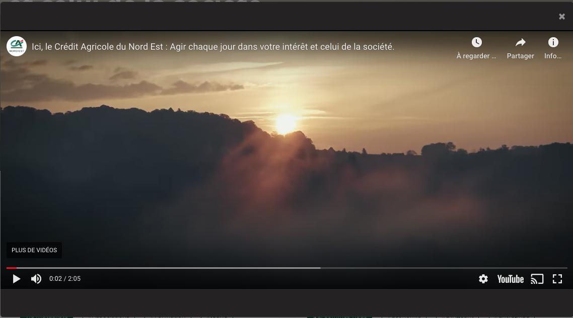 VIDEO AGIR CHAQUE JOUR CREDIT AGRICOLE DU NORD EST