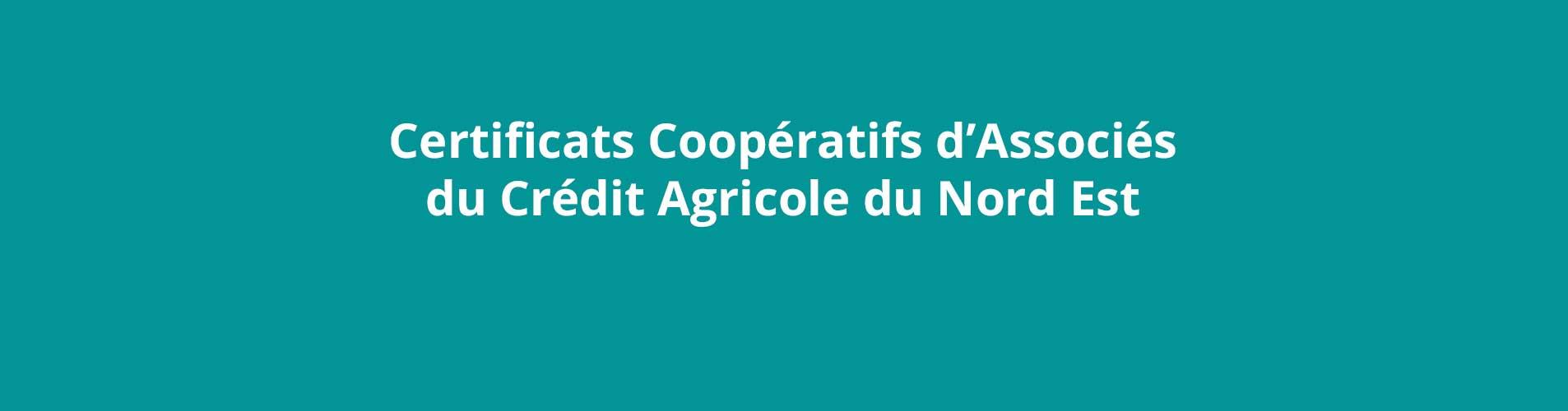 certificats cooperatifs d associes