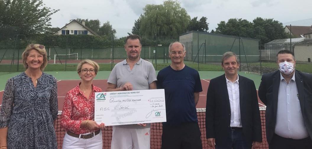 Laon Vivaise tennis club fondation credit agricole du nord est