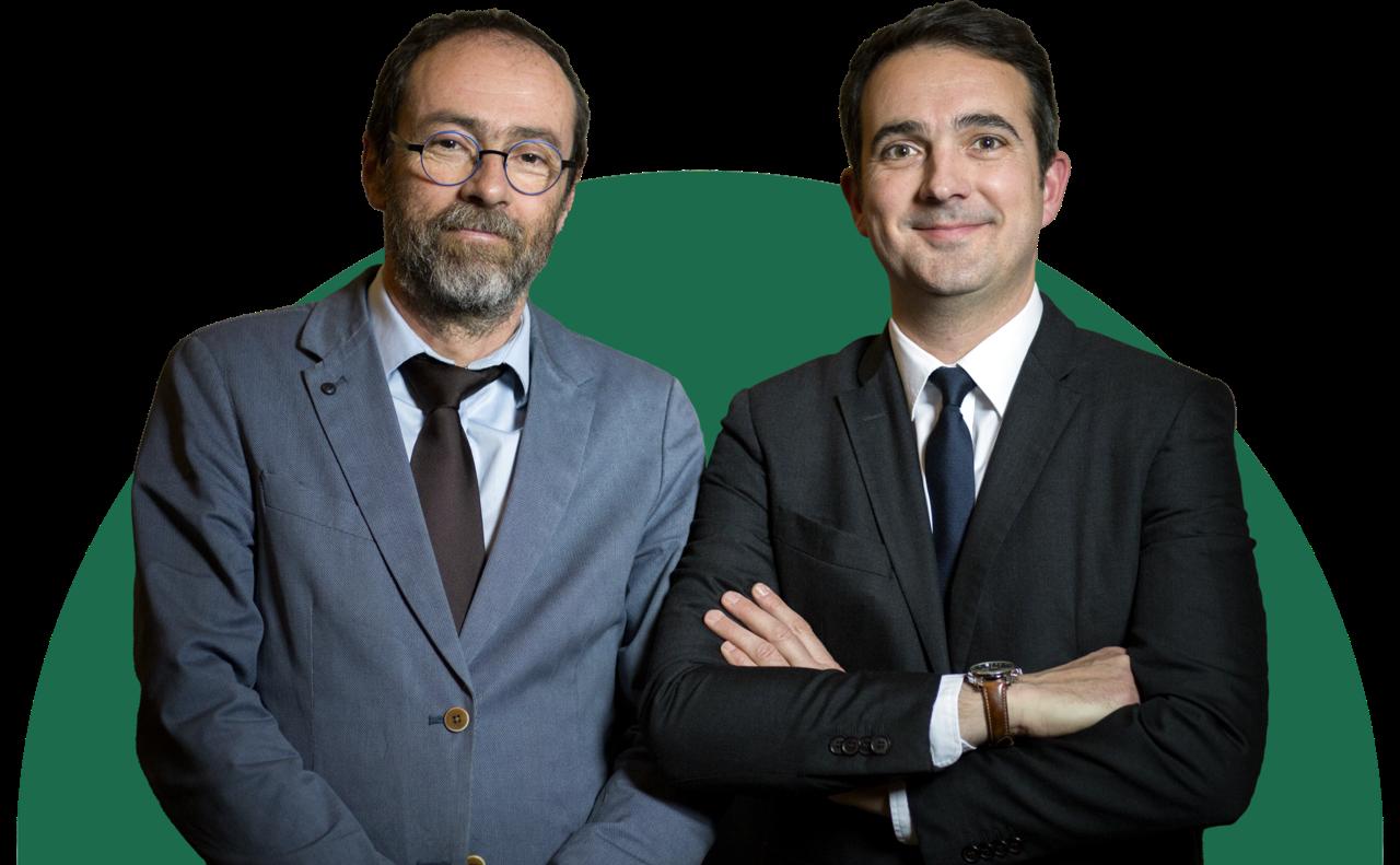 Paul Poquet et Frédéric Allaux